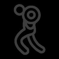 icona esercizio con i pesi